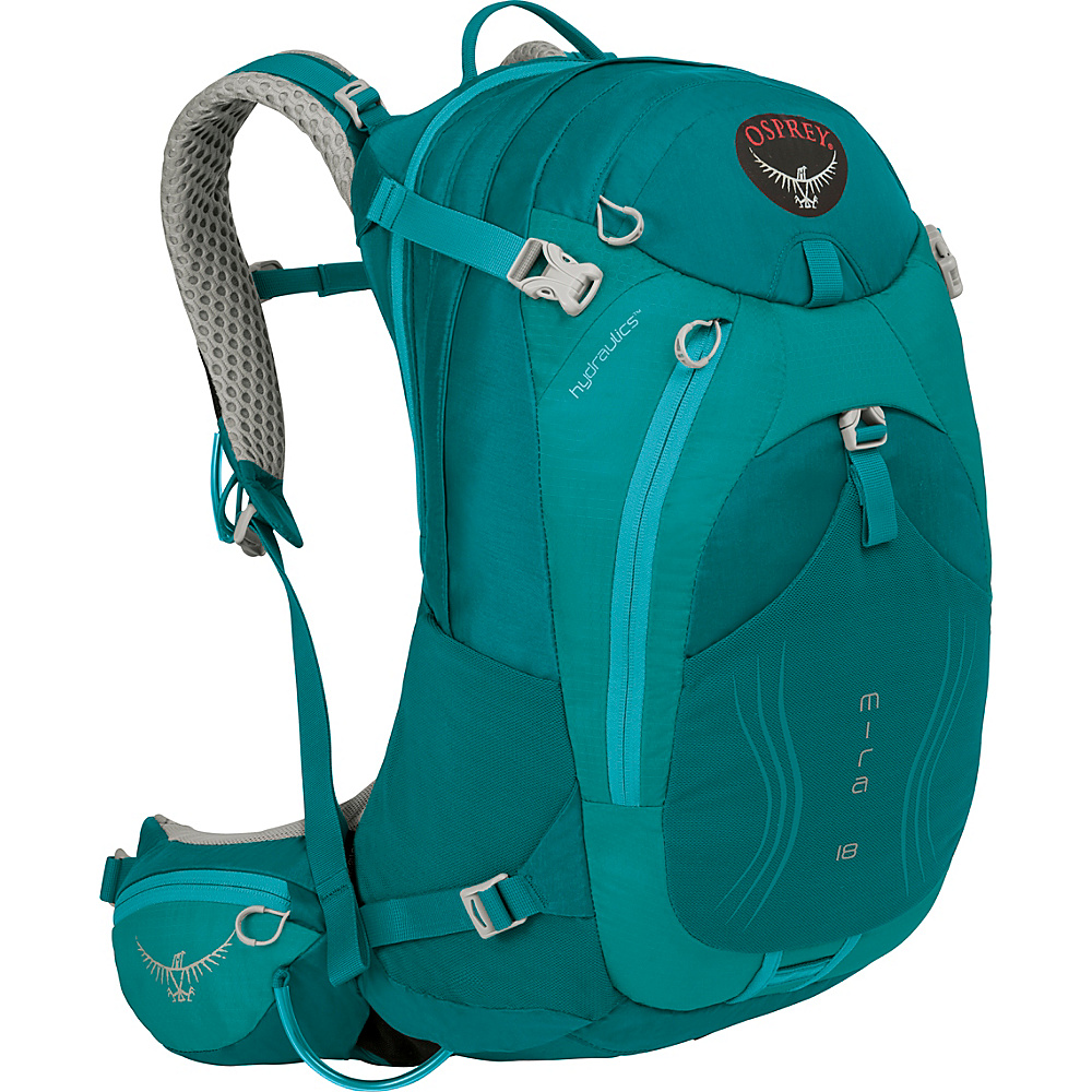 Osprey Mira AG 18 Hiking Pack Bondi Blue - Osprey Day Hiking Backpacks - Outdoor, Day Hiking Backpacks