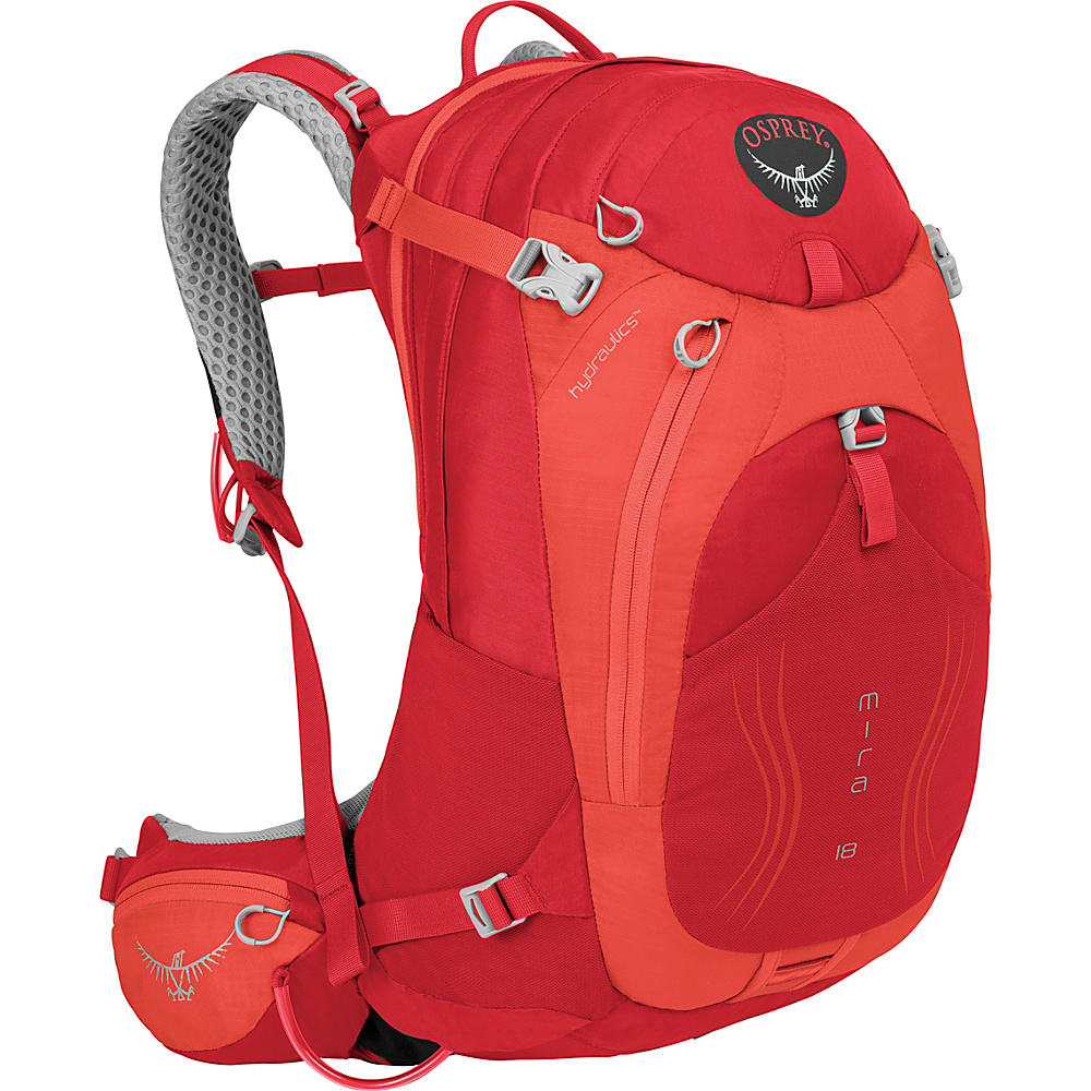 Osprey Mira AG 18 Hiking Pack Cherry Red - Osprey Day Hiking Backpacks - Outdoor, Day Hiking Backpacks