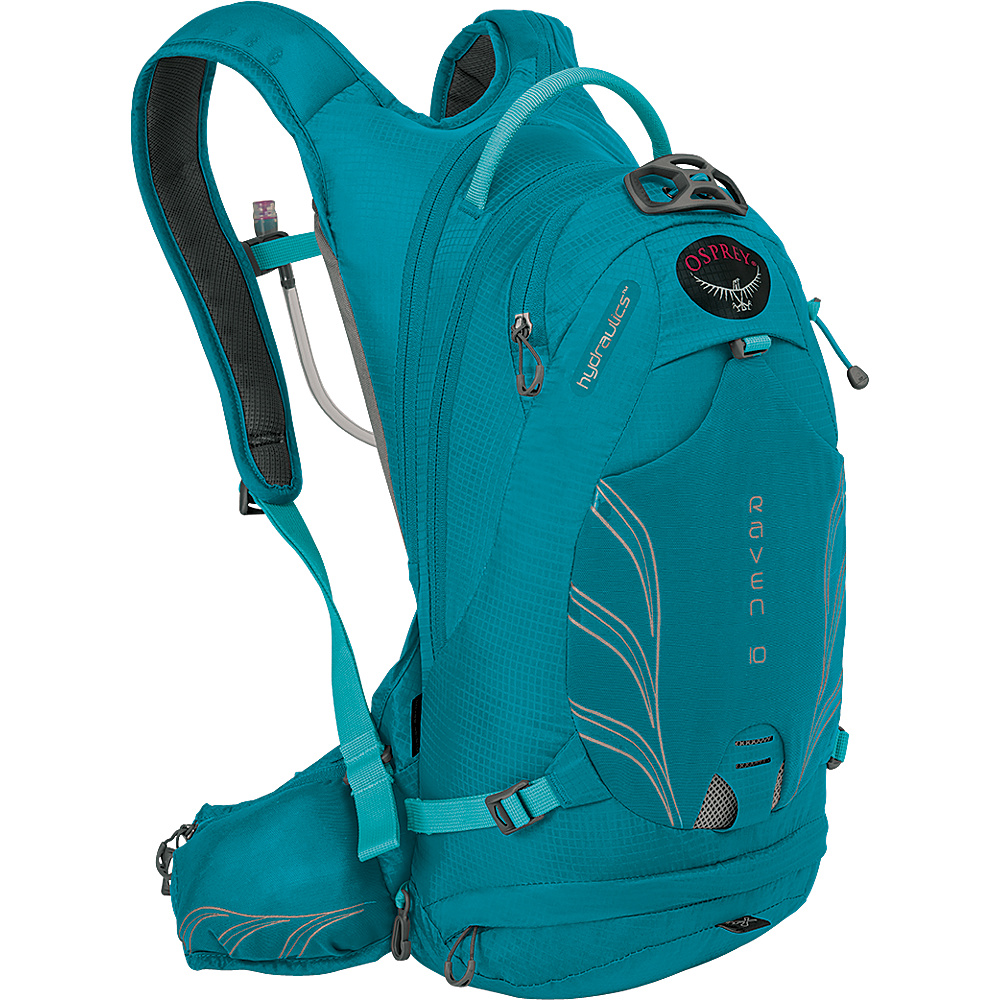 Osprey Raven 10 Biking Backpack Tempo Teal - Osprey Day Hiking Backpacks - Outdoor, Day Hiking Backpacks