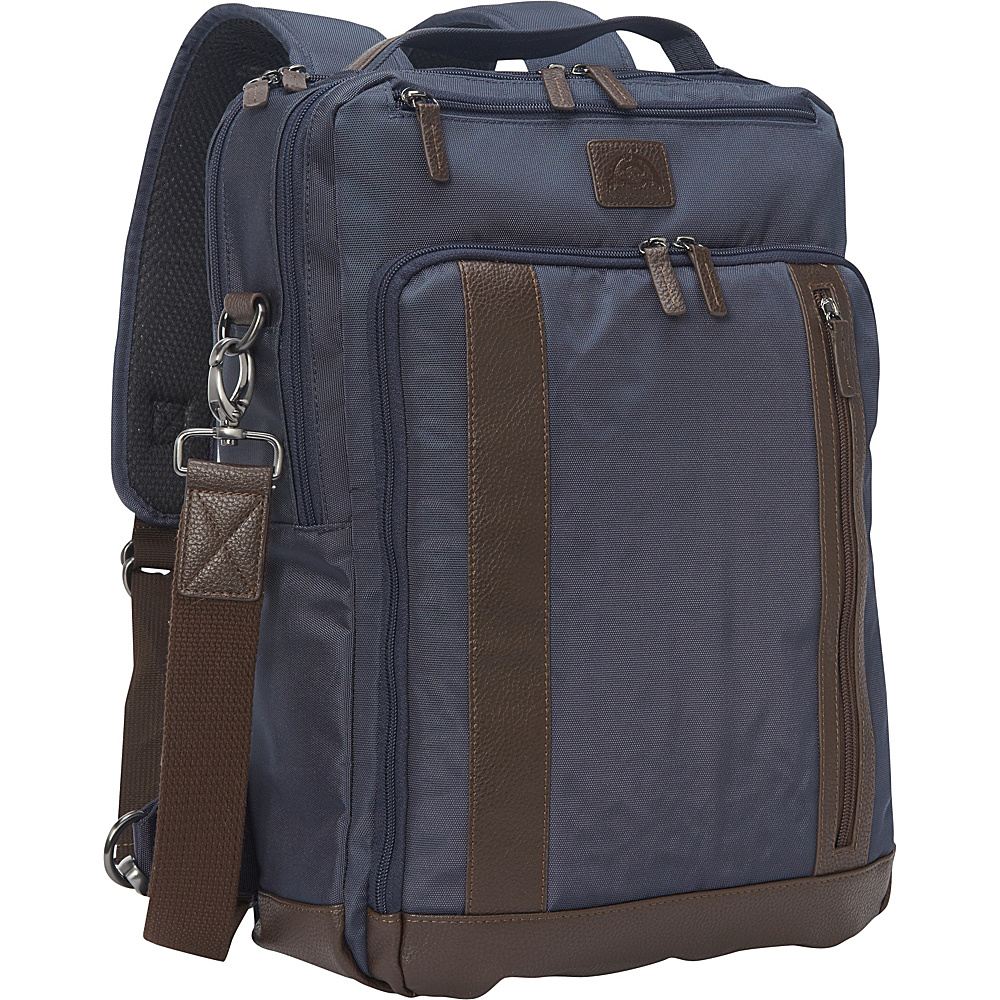 Dopp Commuter Convertible Backpack with RFID Lining Navy - Dopp Laptop Backpacks