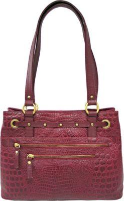 Great American Leatherworks Croco Tote Bayberry - Great American Leatherworks Leather Handbags