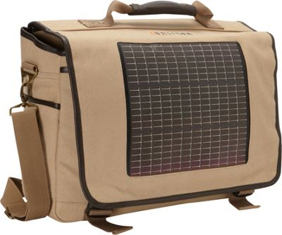 Eclipse Solar Gear Fusion Canvas Solar Messenger Bag Tan - Eclipse Solar Gear Messenger Bags