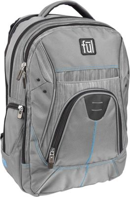 ful Gung-Ho 18 inch Laptop Backpack Grey - ful Business & Laptop Backpacks