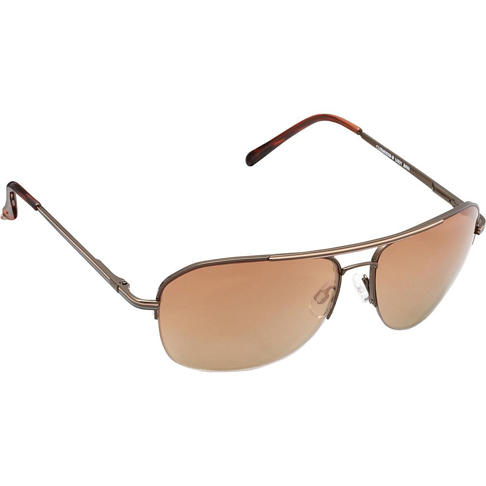 Unionbay Eyewear Metal Aviator Sunglasses Brown Unionbay Eyewear Sunglasses