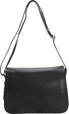 Bella Handbags Abigail Shoulder Bag Black - Bella Handbags Leather Handbags