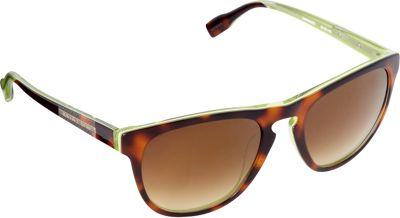 Elie Tahari Sunglasses Round Sunglasses Tortoise/Green - Elie Tahari Sunglasses Sunglasses