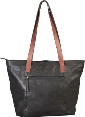 Canyon Outback Leather 17-inch Harper Canyon Leather Tote Black - Canyon Outback Leather Handbags