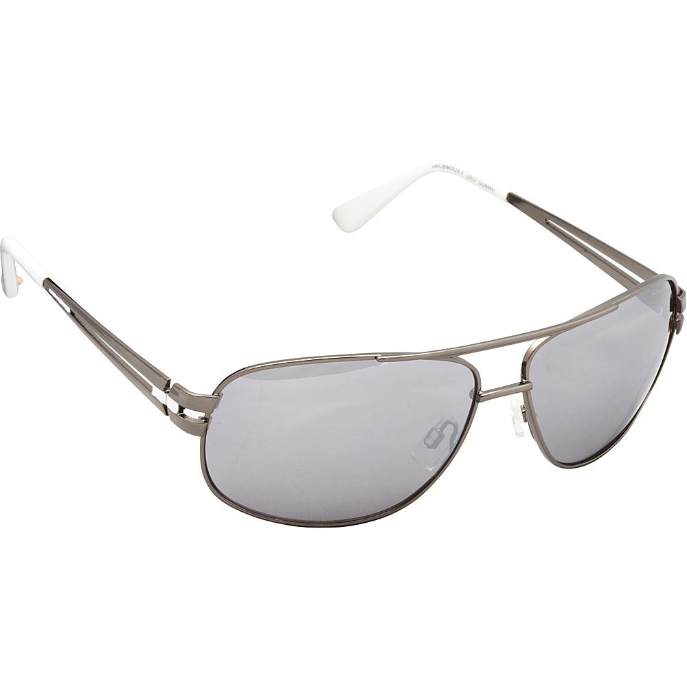 Unionbay Eyewear Metal Aviator Sunglasses Gun White Unionbay Eyewear Sunglasses