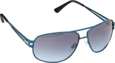 Unionbay Eyewear Metal Aviator Sunglasses Matte Blue Silver - Unionbay Eyewear Sunglasses