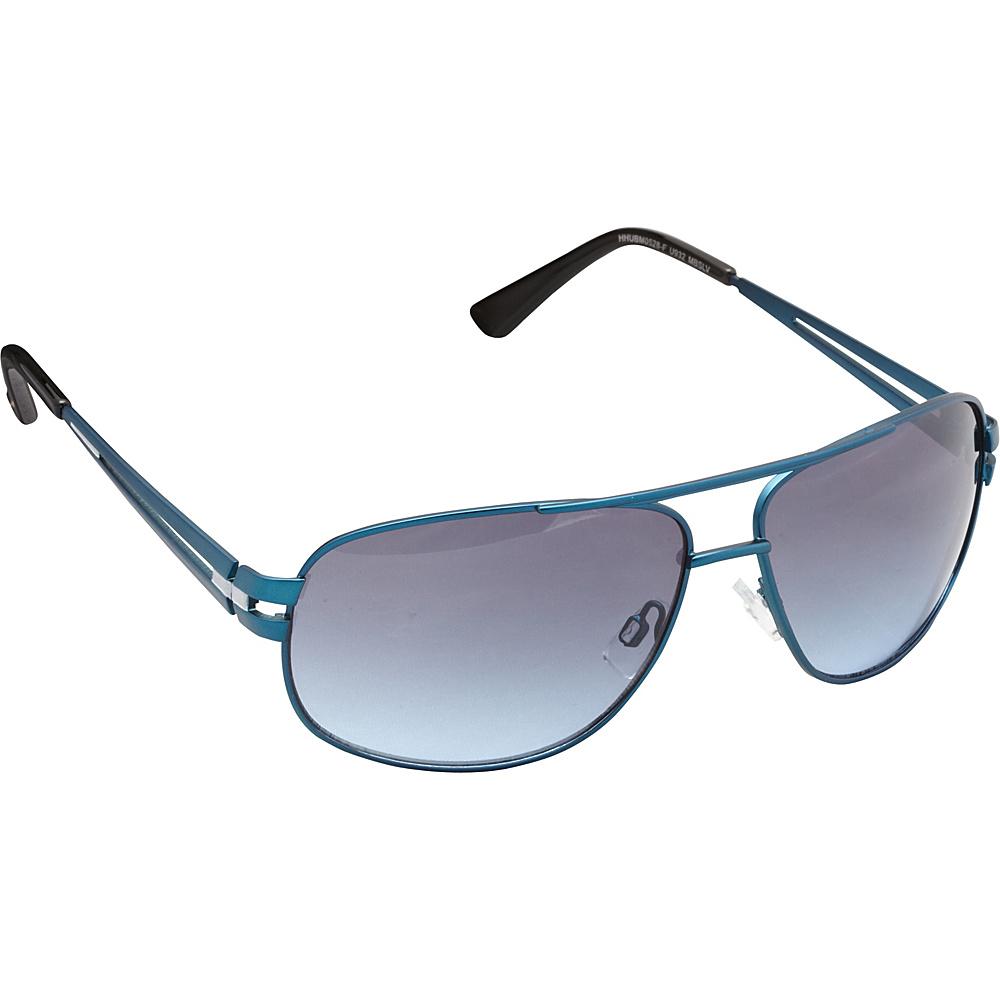 Unionbay Eyewear Metal Aviator Sunglasses Matte Blue Silver Unionbay Eyewear Sunglasses