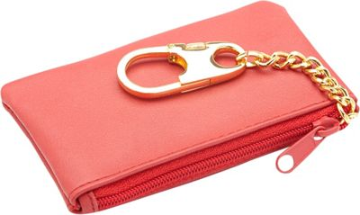 Royce Leather Slim Coin & Key Holder Wallet Red - Royce Leather Women's Wallets