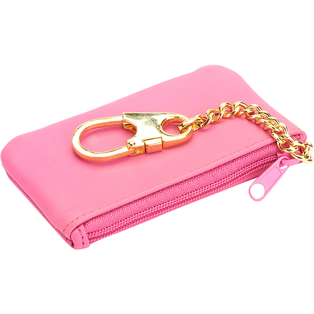Royce Leather Slim Coin & Key Holder Wallet Wild Berry Royce Leather Women's Wallets