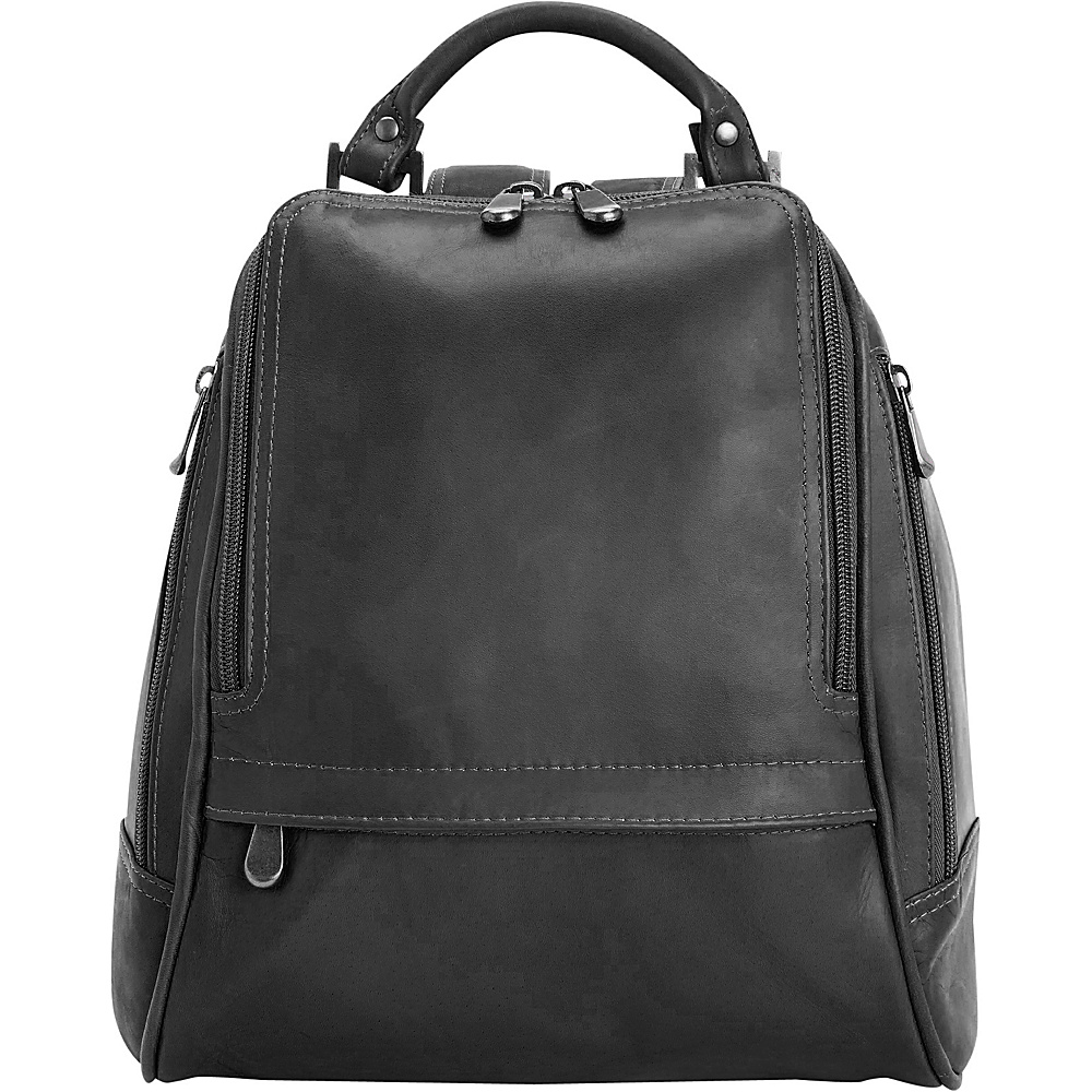 Royce Leather Women's Colombian Leather Sling Backpack Black - Royce Leather Leather Handbags