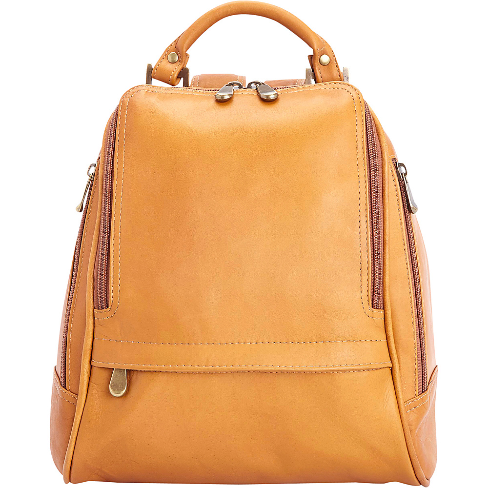 Royce Leather Women's Colombian Leather Sling Backpack Tan - Royce Leather Leather Handbags