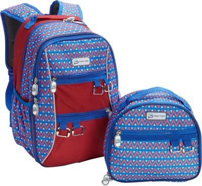 Sydney Paige Buy One/Give One Kids Backpack + Lunch Bag Set Blue Tents - Sydney Paige Everyday Backpacks