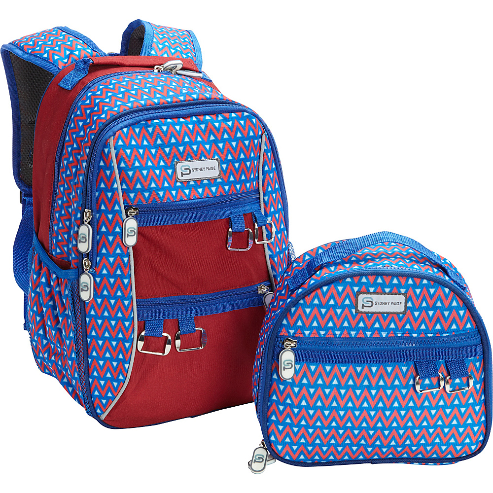 Sydney Paige Buy One Give One Kids Backpack Lunch Bag Set Blue Tents Sydney Paige Everyday Backpacks
