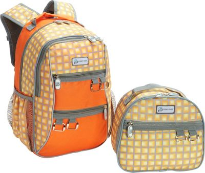 Sydney Paige Buy One/Give One Kids Backpack + Lunch Bag Set Orange Tunnels - Sydney Paige Everyday Backpacks