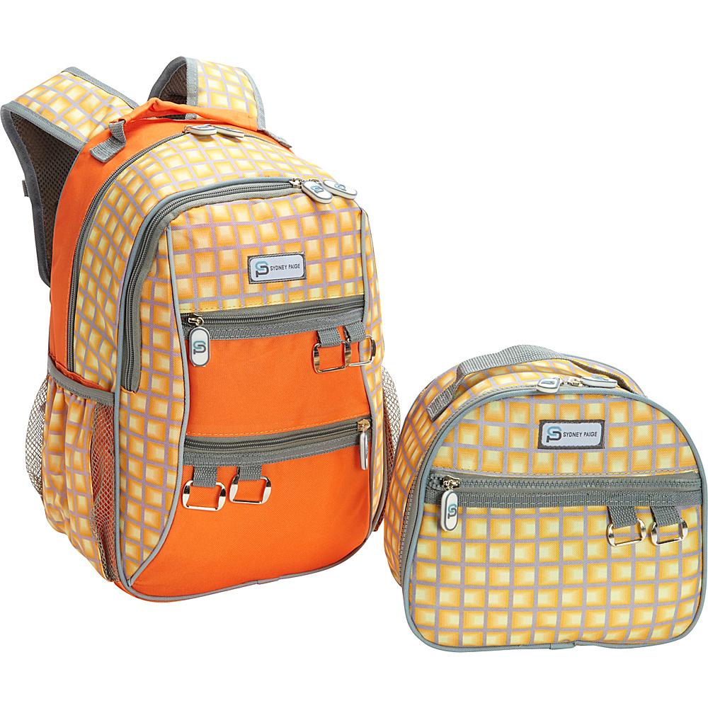 Sydney Paige Buy One Give One Kids Backpack Lunch Bag Set Orange Tunnels Sydney Paige Everyday Backpacks