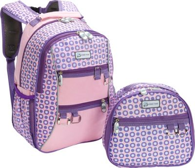 Sydney Paige Buy One/Give One Kids Backpack + Lunch Bag Set Purple Spotlight - Sydney Paige Everyday Backpacks