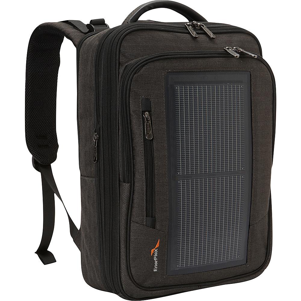 Enerplex Packr Executive Solar Backpack GREY - Enerplex Business & Laptop Backpacks
