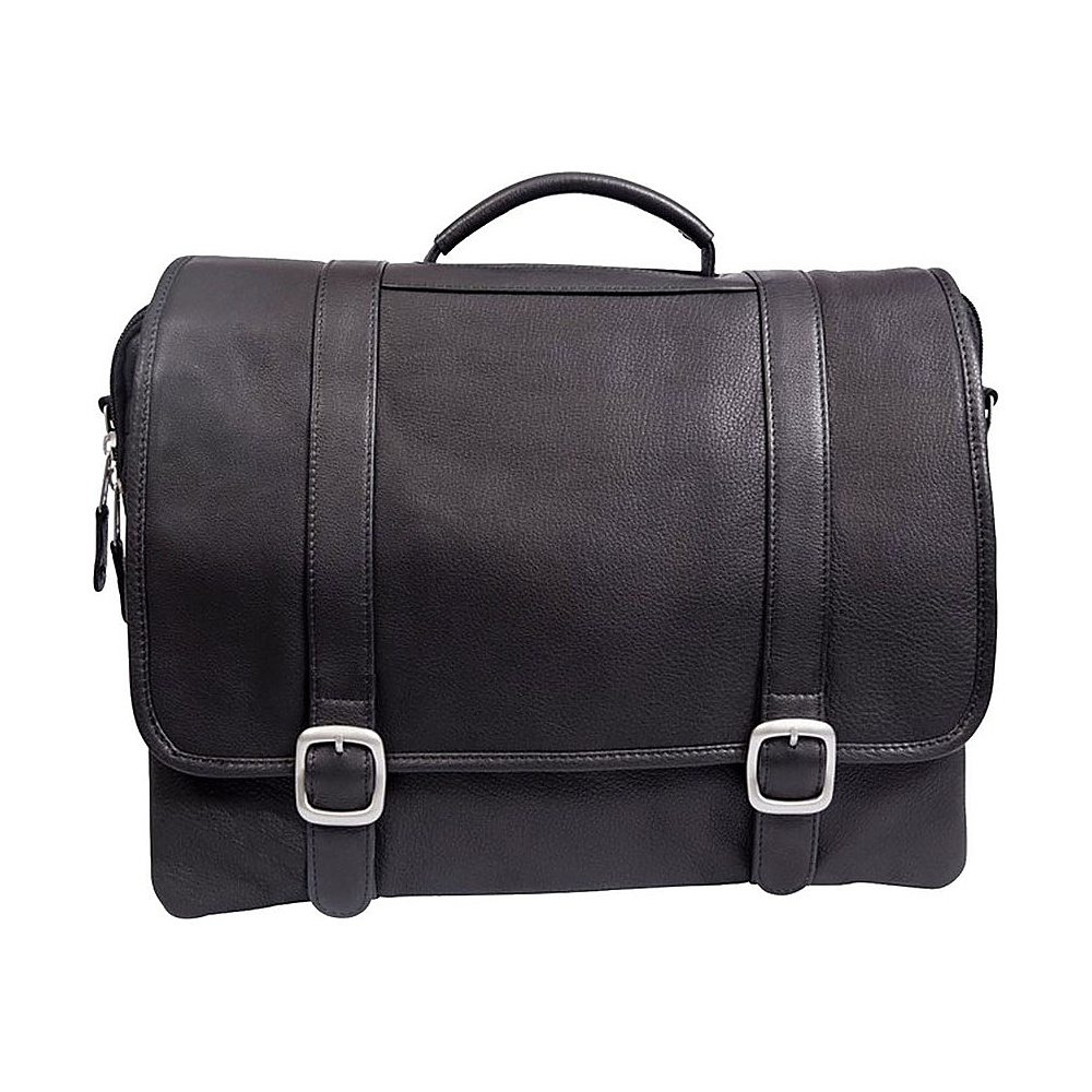 Canyon Outback Leather Willow Rock 15 inch Leather Computer Briefcase Black Canyon Outback Non Wheeled Business Cases