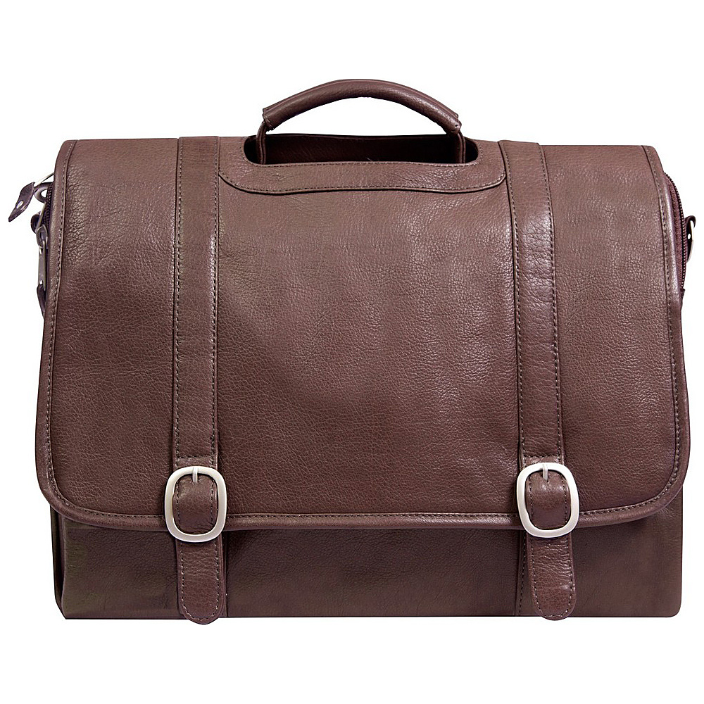 Canyon Outback Leather Willow Rock 15 inch Leather Computer Briefcase Brown Canyon Outback Non Wheeled Business Cases