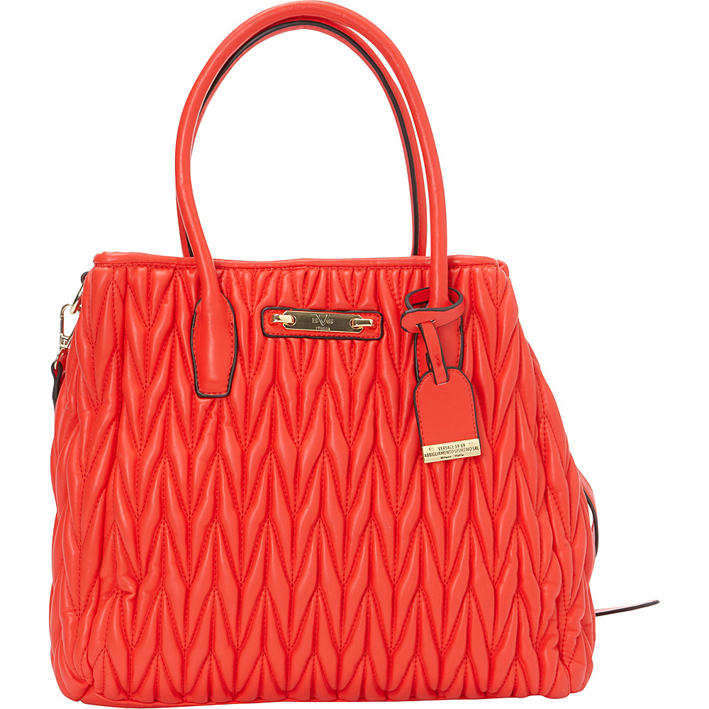 69c199693874  83.29 More Details · 1969 V Italia Sofia Tote Coral - 1969 V Italia  Manmade Handbags