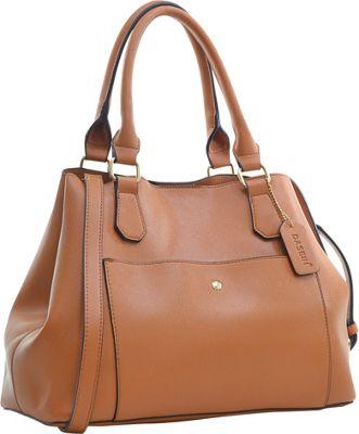 Dasein Gathered Top Satchel Brown - Dasein Manmade Handbags