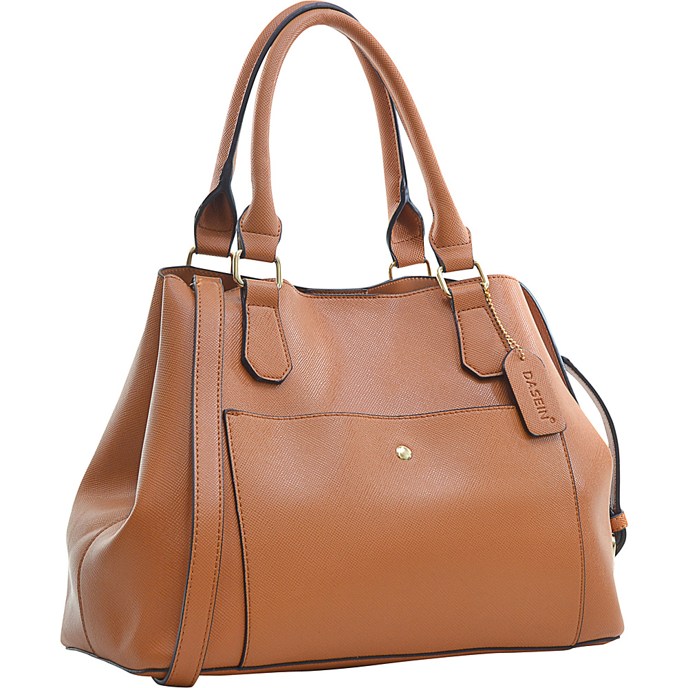 Dasein Gathered Top Satchel Brown - Dasein Manmade Handbags - Handbags, Manmade Handbags