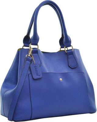 Dasein Gathered Top Satchel Blue - Dasein Manmade Handbags