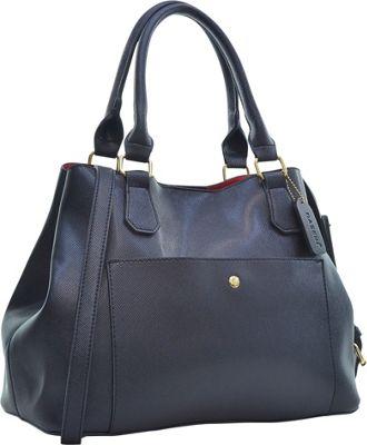Dasein Gathered Top Satchel Black - Dasein Manmade Handbags