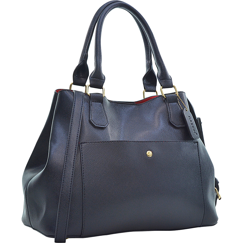 Dasein Gathered Top Satchel Black - Dasein Manmade Handbags - Handbags, Manmade Handbags