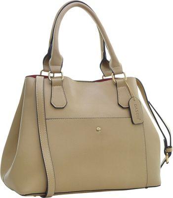 Dasein Gathered Top Satchel Beige - Dasein Manmade Handbags