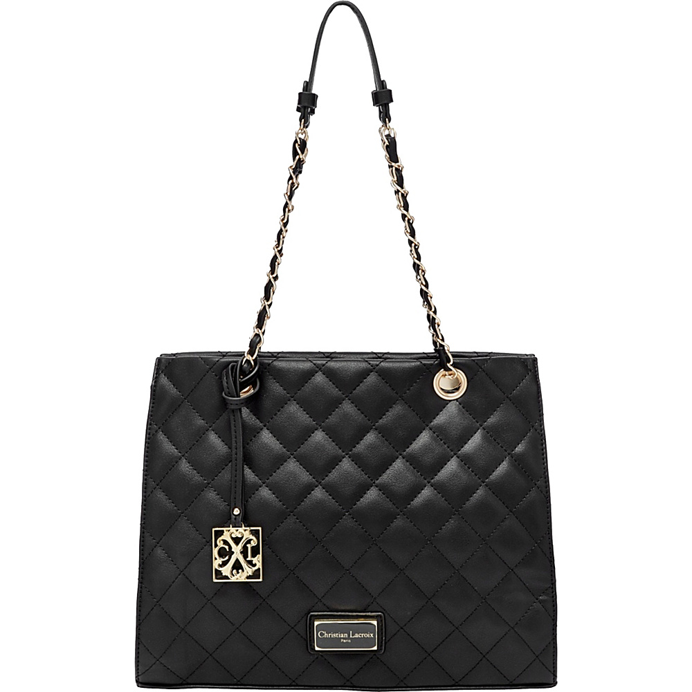 CXL by Christian Lacroix Galaxie Quilted Tote Black - CXL by Christian Lacroix Manmade Handbags