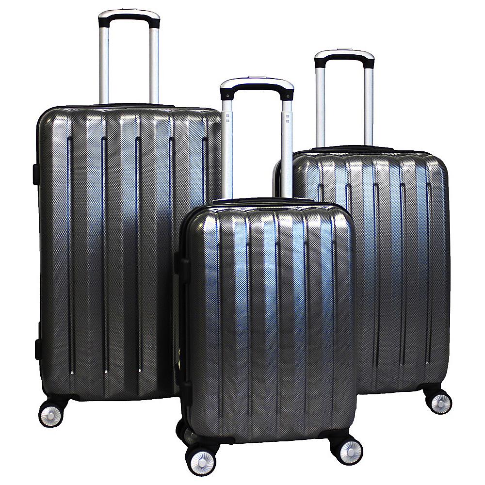 World Traveler Oxford 3-piece Lightweight Spinner Luggage Grey - World Traveler Luggage Sets - Luggage, Luggage Sets