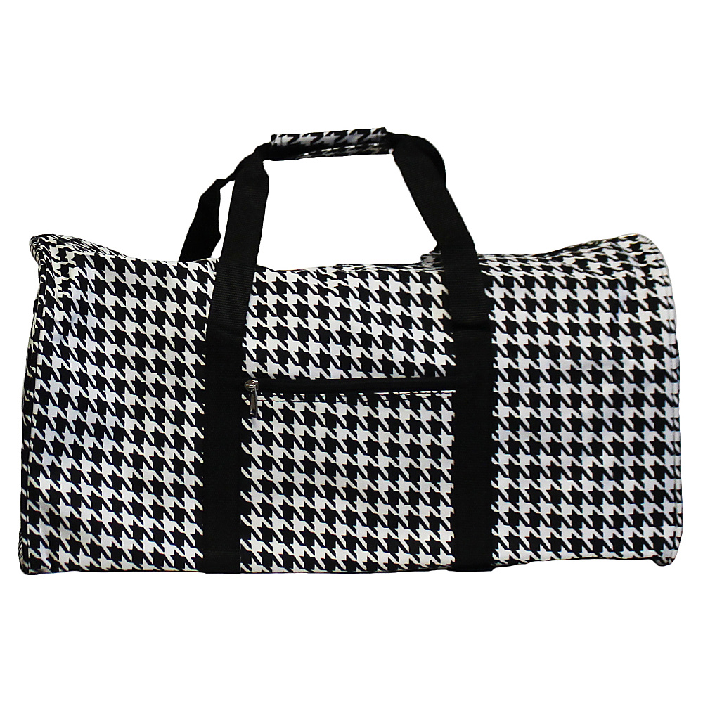 World Traveler Houndstooth 22 Lightweight Duffle Bag Black Trim Houndstooth - World Traveler Rolling Duffels - Luggage, Rolling Duffels