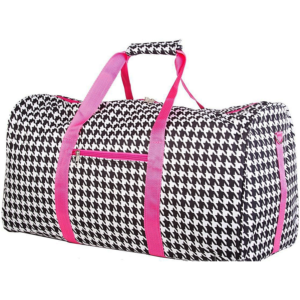 World Traveler Houndstooth 22 Lightweight Duffle Bag Fuchsia Trim Houndstooth - World Traveler Rolling Duffels - Luggage, Rolling Duffels