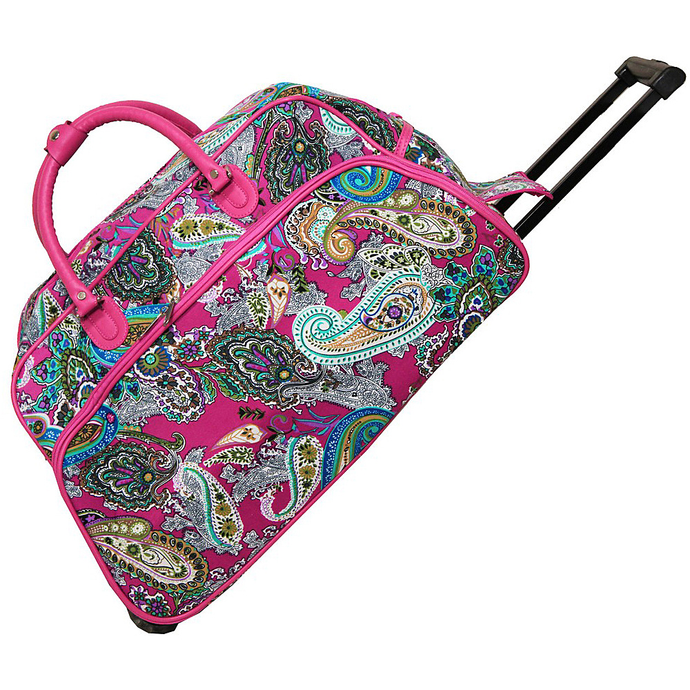 World Traveler Multi Paisley 21 Rolling Duffel Bag Pink Multi Paisley - World Traveler Rolling Duffels - Luggage, Rolling Duffels