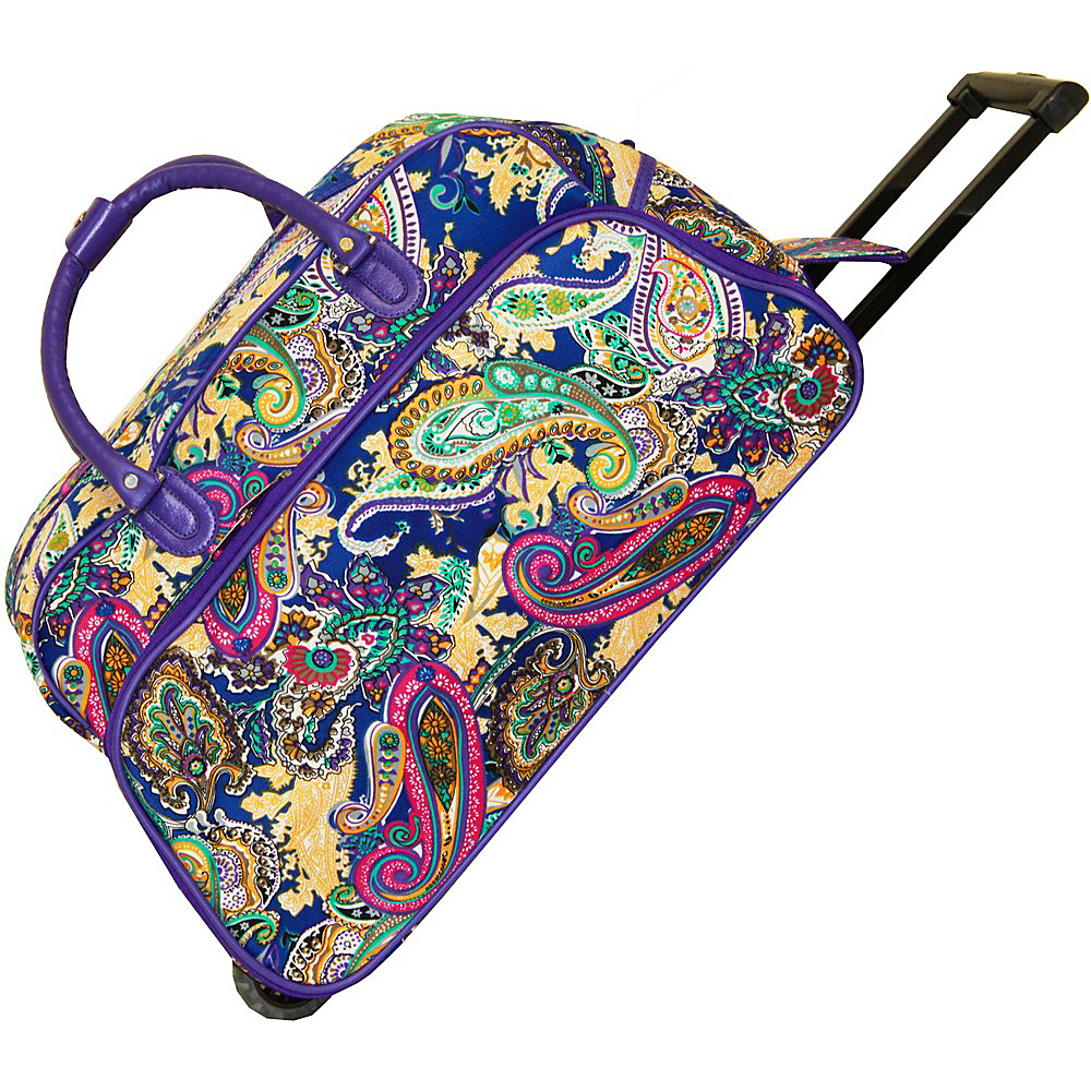 World Traveler Multi Paisley 21 Rolling Duffel Bag Blue Multi Paisley - World Traveler Rolling Duffels - Luggage, Rolling Duffels