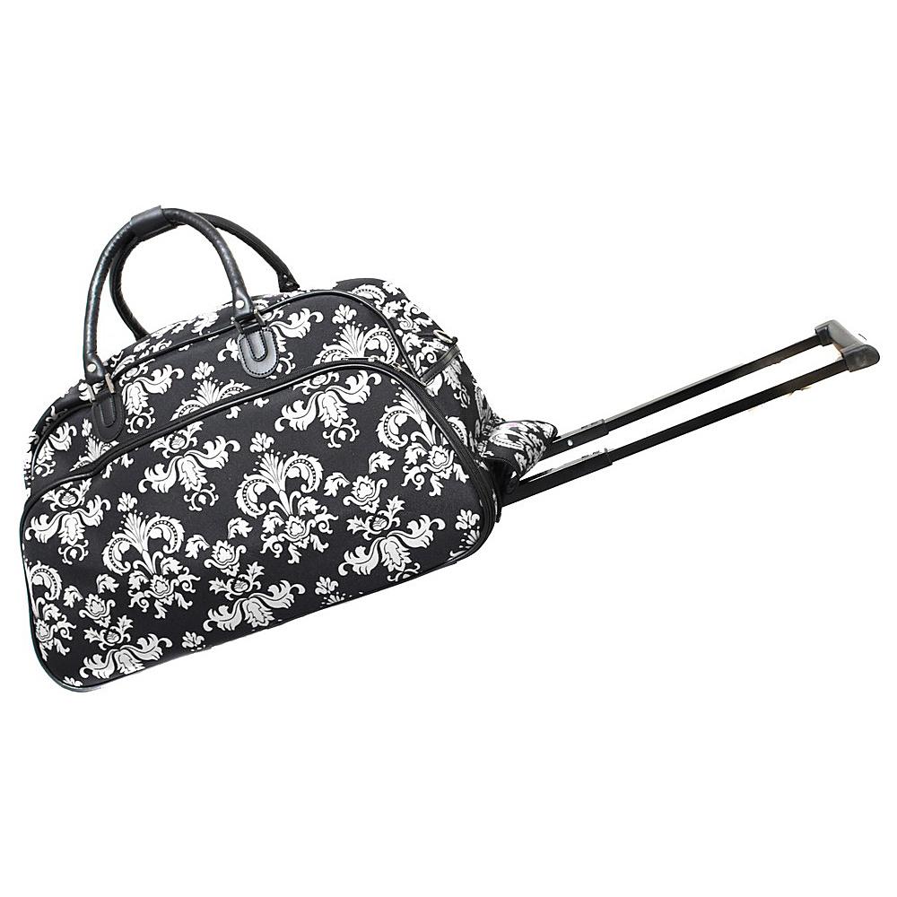 World Traveler Damask ll 21 Rolling Duffel Bag Black White Damask ll - World Traveler Rolling Duffels - Luggage, Rolling Duffels