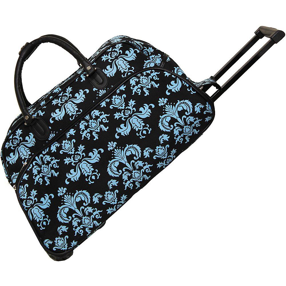 World Traveler Damask ll 21 Rolling Duffel Bag Blue Damask ll - World Traveler Rolling Duffels - Luggage, Rolling Duffels