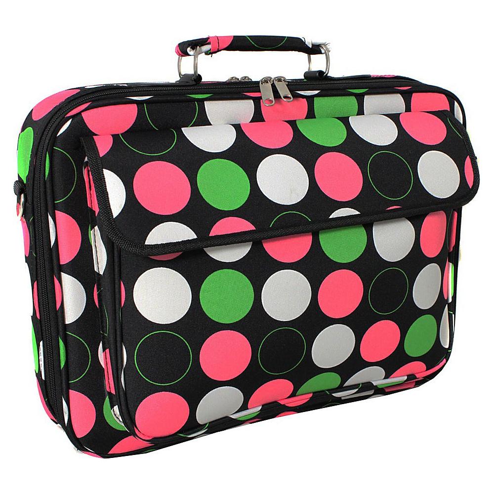 World Traveler New Multi Dot 17 Laptop Case New Multi Dot - World Traveler Non-Wheeled Business Cases - Work Bags & Briefcases, Non-Wheeled Business Cases