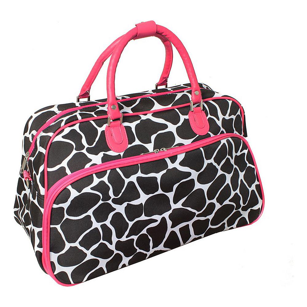 World Traveler Giraffe 21 Carry-On Duffel Bag Pink Giraffe - World Traveler Rolling Duffels - Luggage, Rolling Duffels