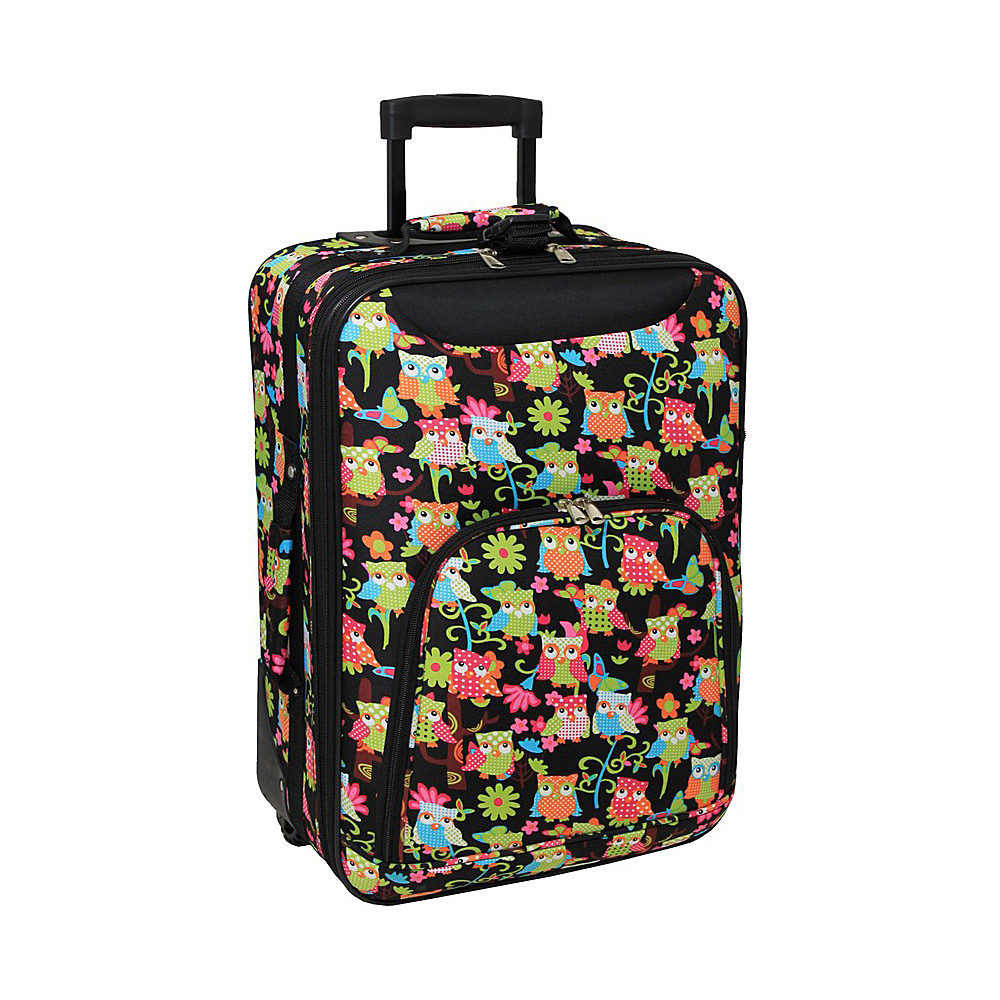 World Traveler Owl 20 Rolling Carry-On Multi Owl - World Traveler Softside Carry-On - Luggage, Softside Carry-On