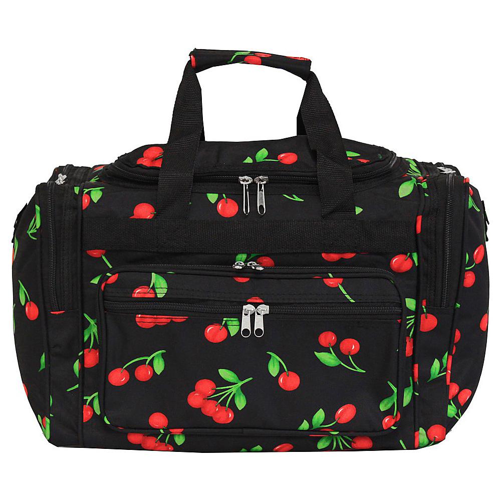 World Traveler Cherry 16 Shoulder Duffle Bag Cherry - World Traveler Rolling Duffels - Luggage, Rolling Duffels