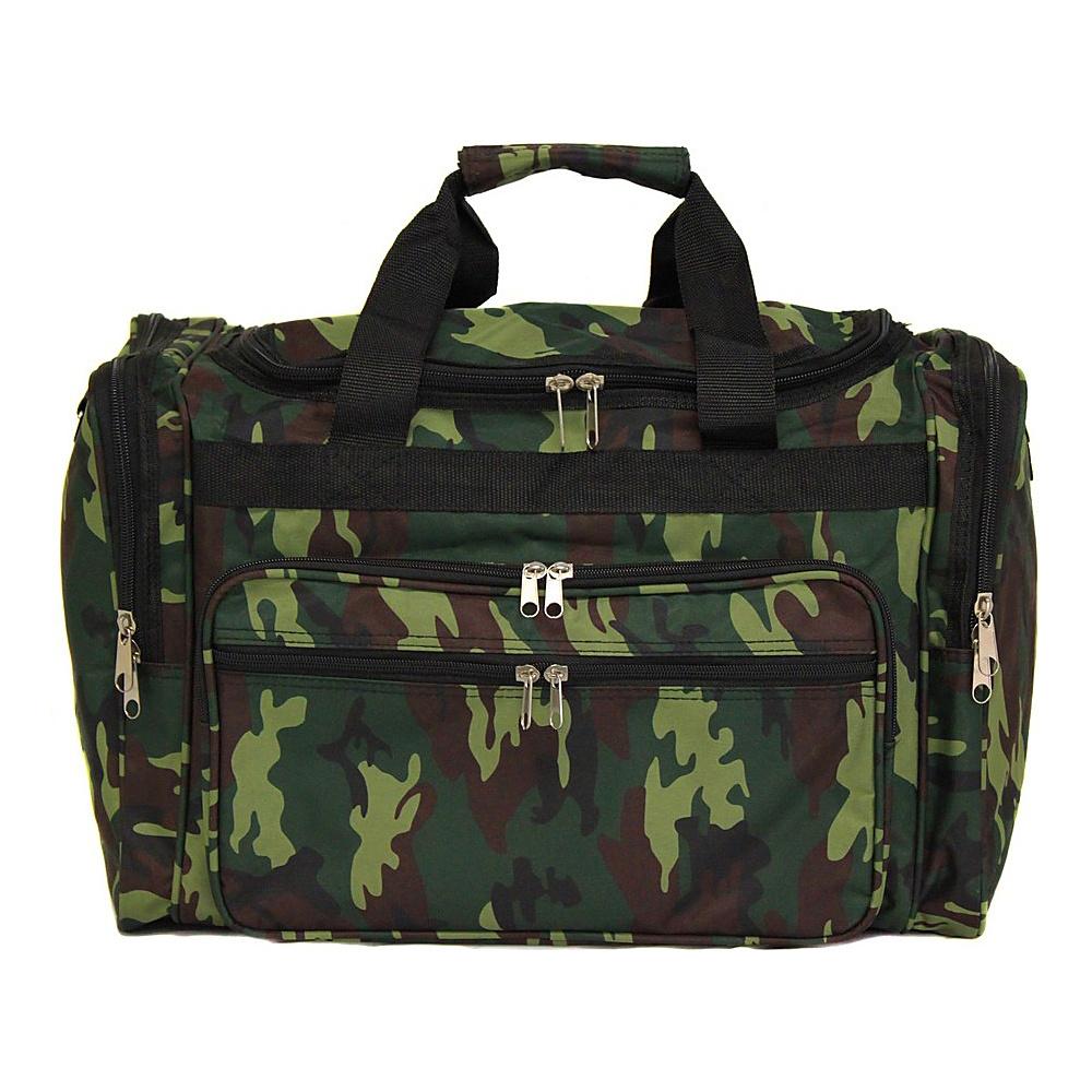 World Traveler Camouflage 19 Shoulder Duffle Bag Green Camo - World Traveler Rolling Duffels - Luggage, Rolling Duffels