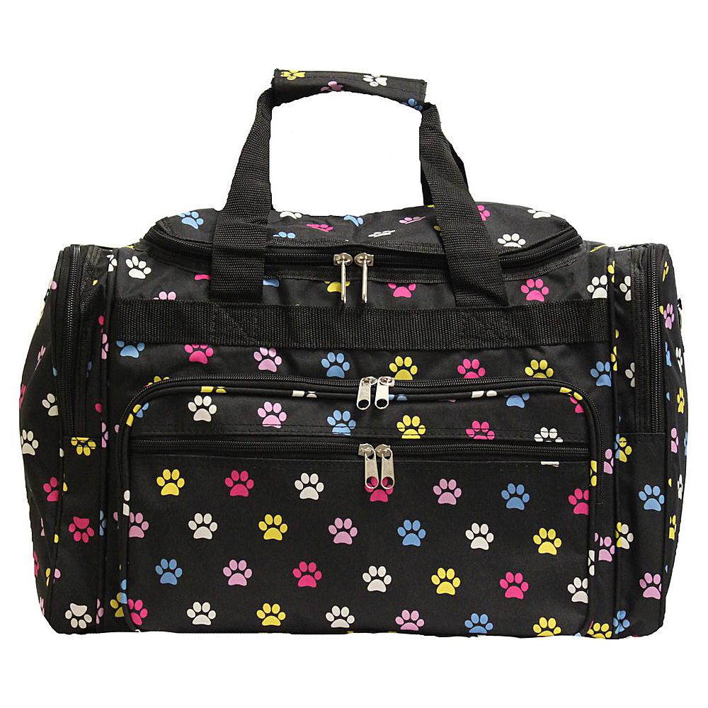World Traveler Paws 22 Travel Duffle Bag Multi Paws - World Traveler Rolling Duffels - Luggage, Rolling Duffels