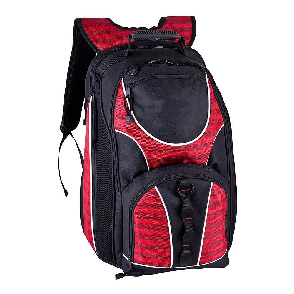 World Traveler TSA Friendly 17 Laptop Backpack Red - World Traveler Business & Laptop Backpacks - Backpacks, Business & Laptop Backpacks
