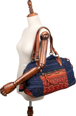 TSD Tribal Secret Tote Orange/Navy - TSD Fabric Handbags