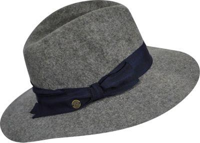 Karen Kane Hats Wide Brim Fedora Slate Mix-Medium/Large - Karen Kane Hats Hats/Gloves/Scarves